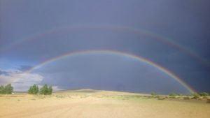 Zentralmongolei Regenbogen
