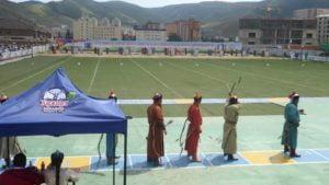 Bogenschießen beim Naadamfest