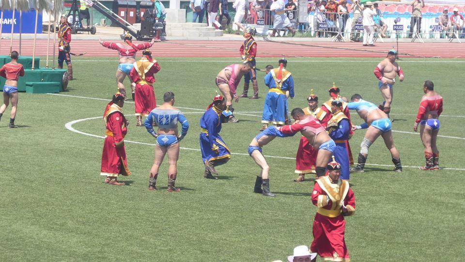 Beim Ringkampf Naadamfest