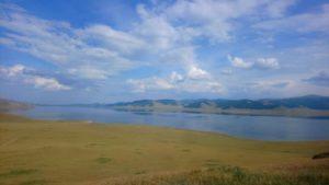 Weißer See in der Mongolei