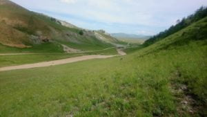 Nach Norden Ulaan Uul in der Mongolei