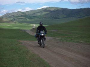 Per Motorrad in der Mongolei