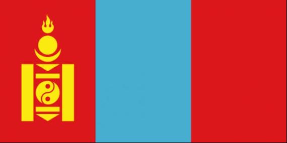 Flagge Reiseziel Mongolei