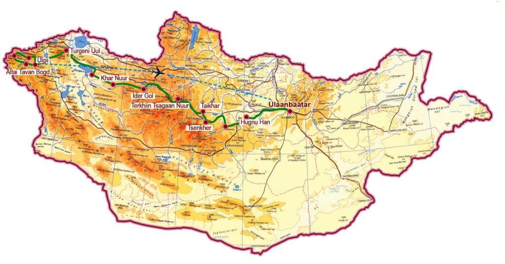 Khangai und Altai Gebirge