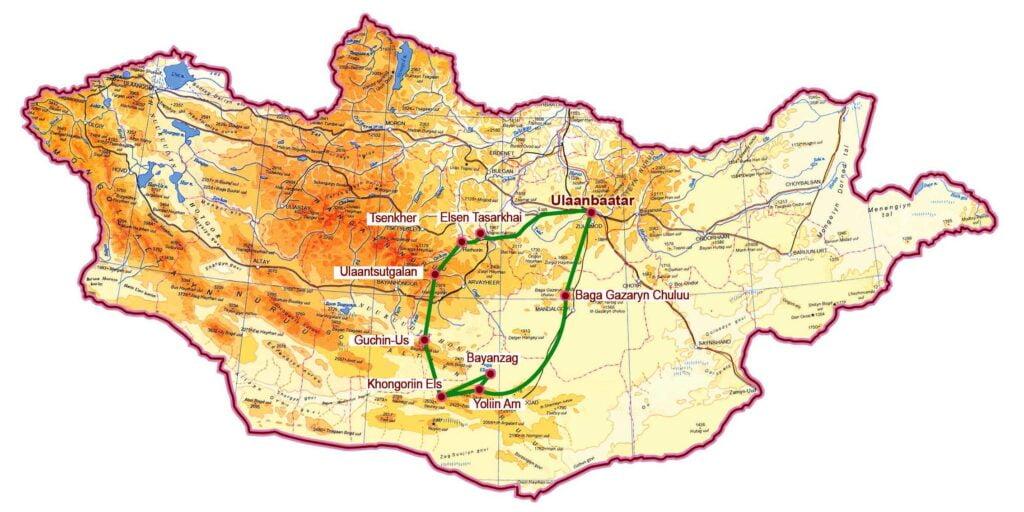 Khangai und wüste Gobi