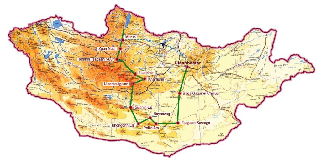 Khuvsgul See Wüste Gobi