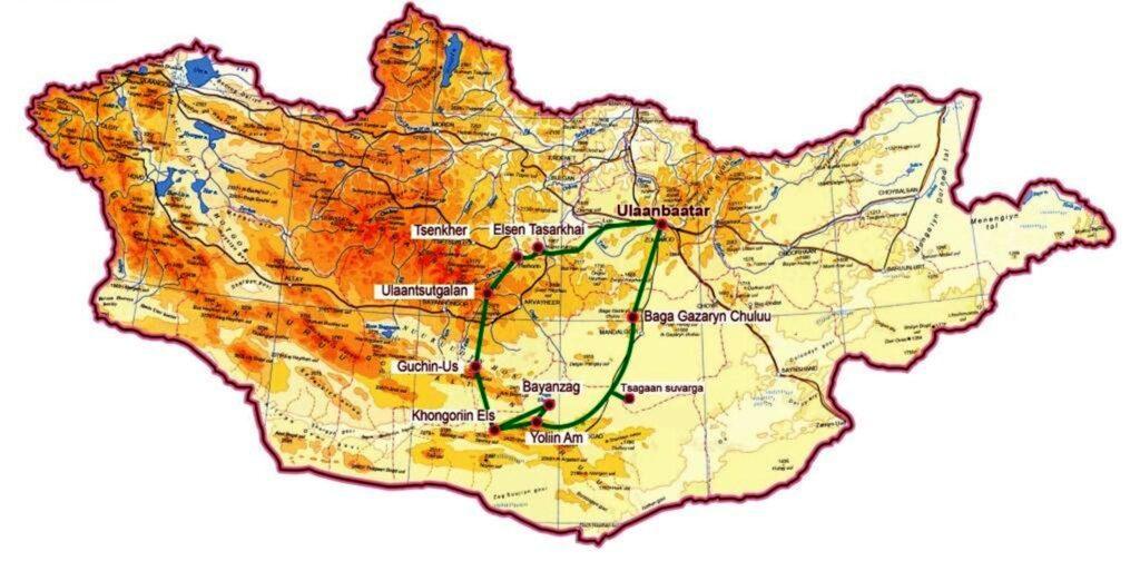 Mit Motorrad durch die Mongolei