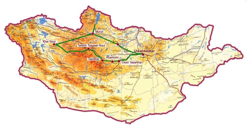 Zentral Mongolei und Norden