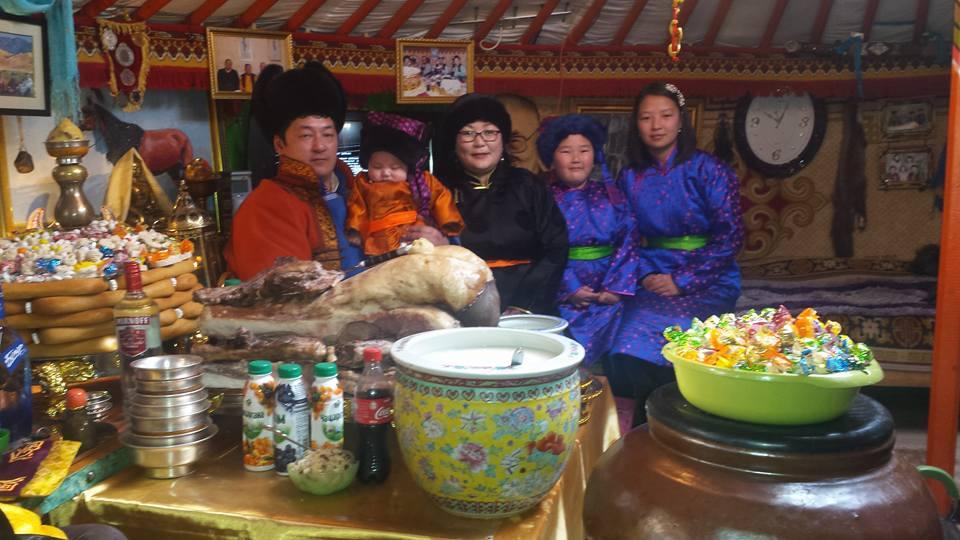 Nomaden feiern mongolisches Neujahrsfest